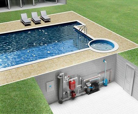 havuz ısı pompası uygulama animasyon