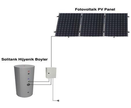 solimpeks paket sistem pv sıcak su